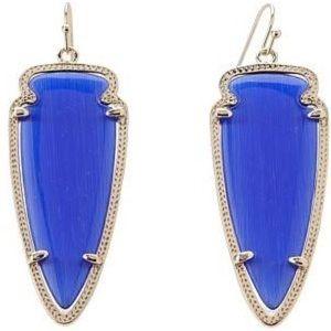 Dark Blue Kendra Scott Skylar Earrings